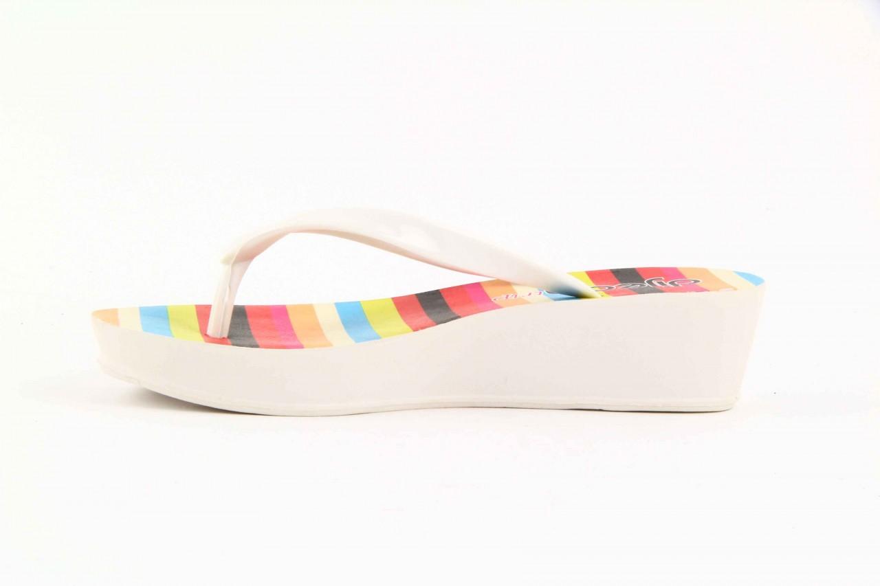 Klapki dijean 256 779 white listras, białe, guma - piankowe - klapki - buty damskie - kobieta 7