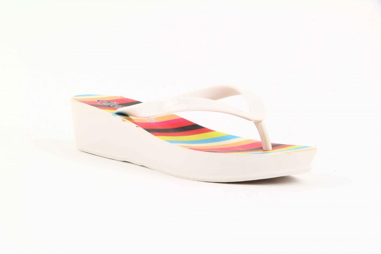 Klapki dijean 256 779 white listras, białe, guma - piankowe - klapki - buty damskie - kobieta 9