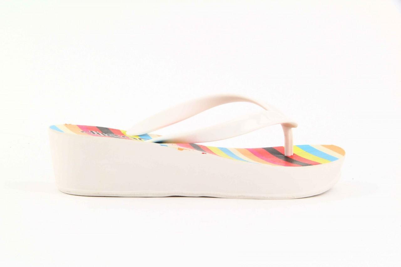 Klapki dijean 256 779 white listras, białe, guma - piankowe - klapki - buty damskie - kobieta 8