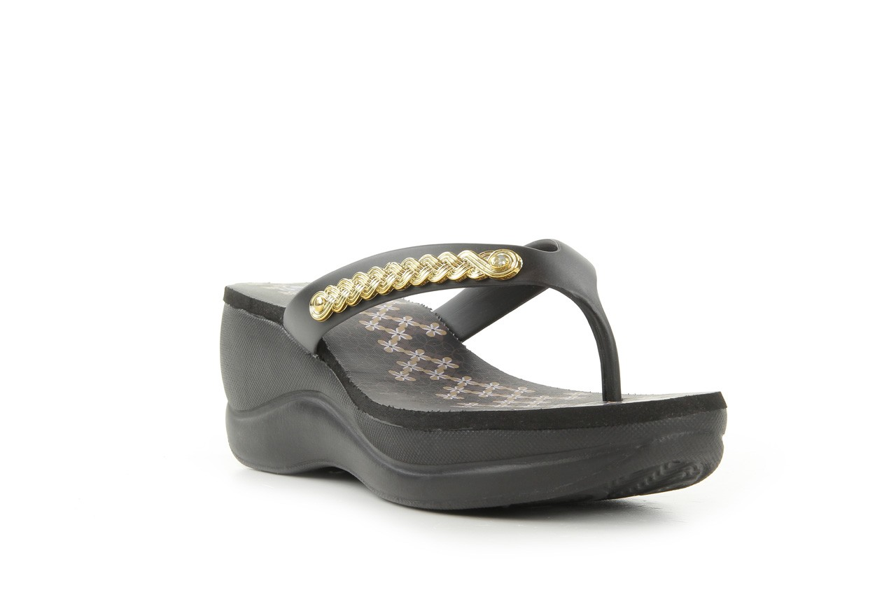 Klapki dijean 260 002 black vitral, czarny, guma - dijean - nasze marki 7