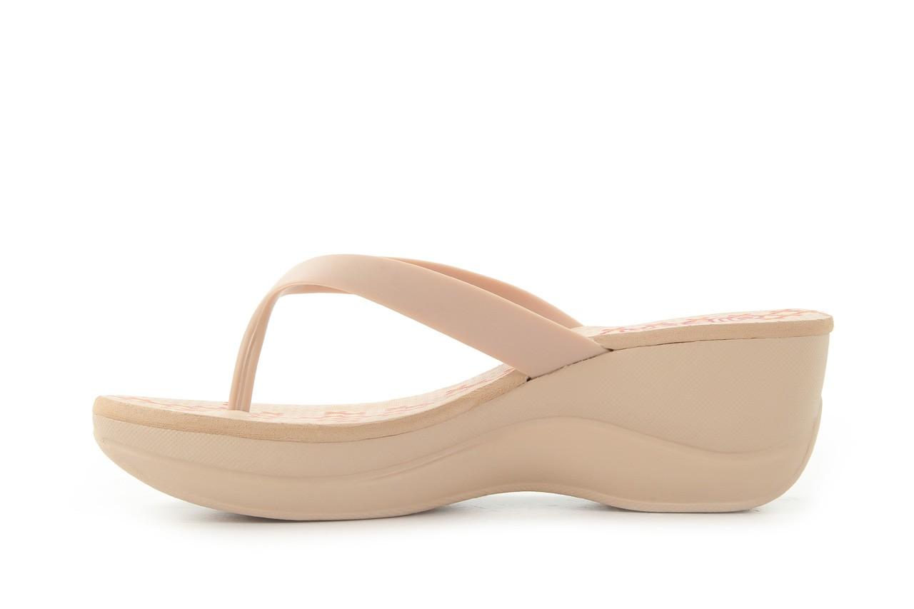 Klapki dijean 260 002 skin vitral, beż, guma - na koturnie - klapki - buty damskie - kobieta 8