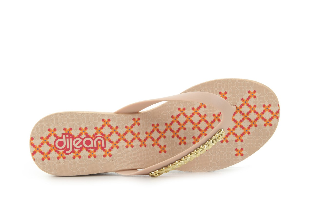 Klapki dijean 260 002 skin vitral, beż, guma - na koturnie - klapki - buty damskie - kobieta 10