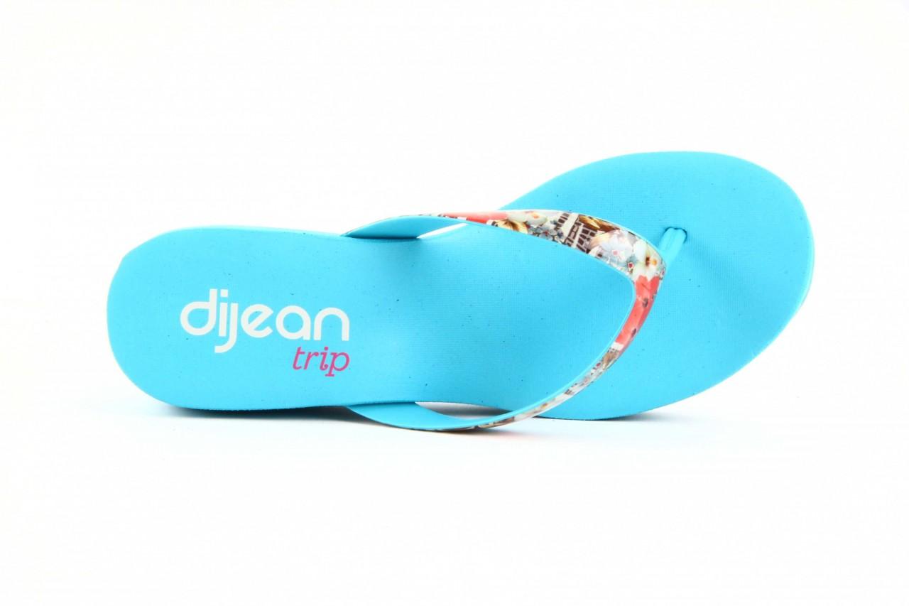 Klapki dijean 260 718 ocean, niebieski, guma - piankowe - klapki - buty damskie - kobieta 9