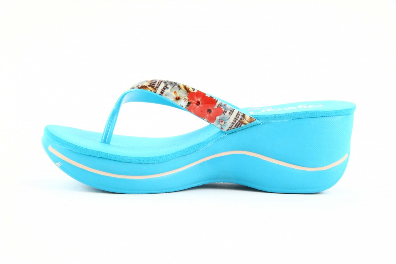 Klapki dijean 260 718 ocean, niebieski, guma - piankowe - klapki - buty damskie - kobieta 8