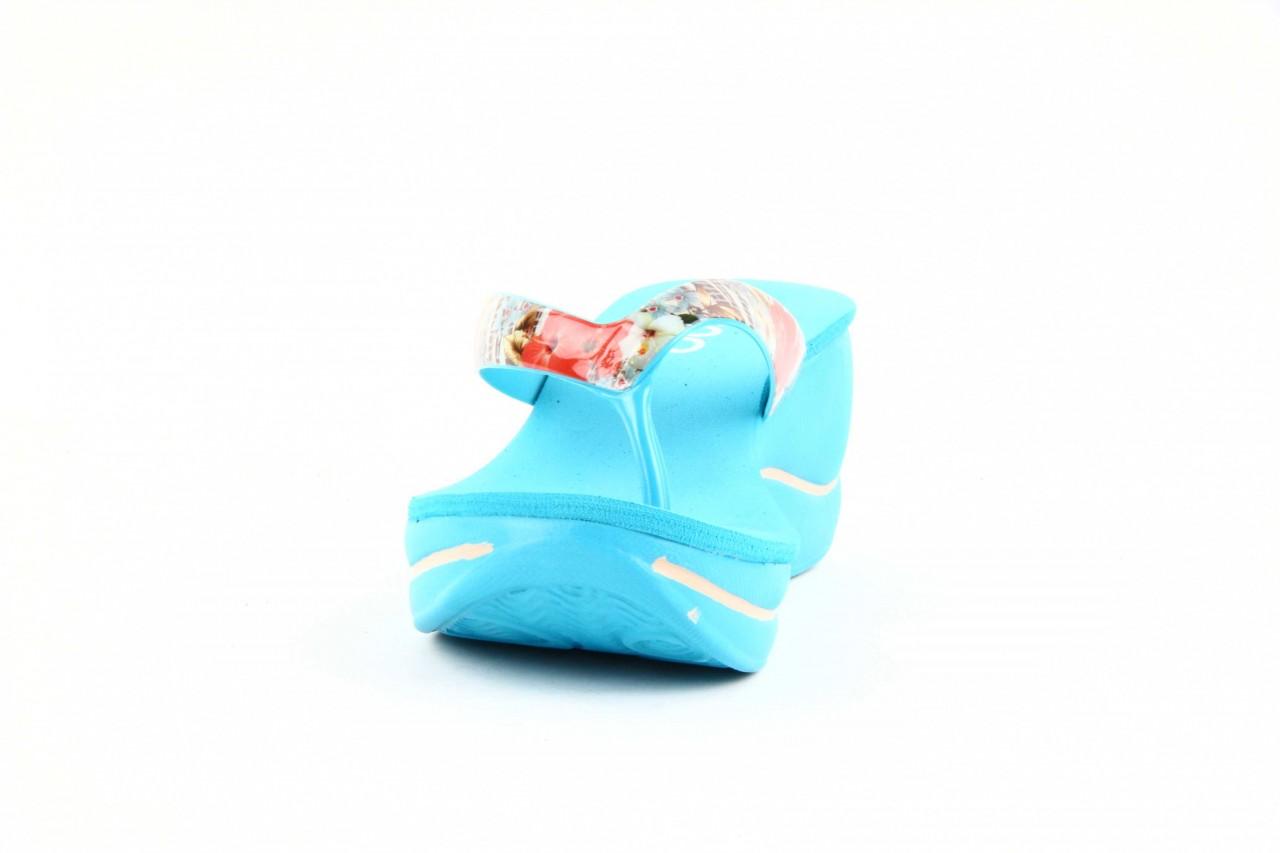 Klapki dijean 260 718 ocean, niebieski, guma - piankowe - klapki - buty damskie - kobieta 7