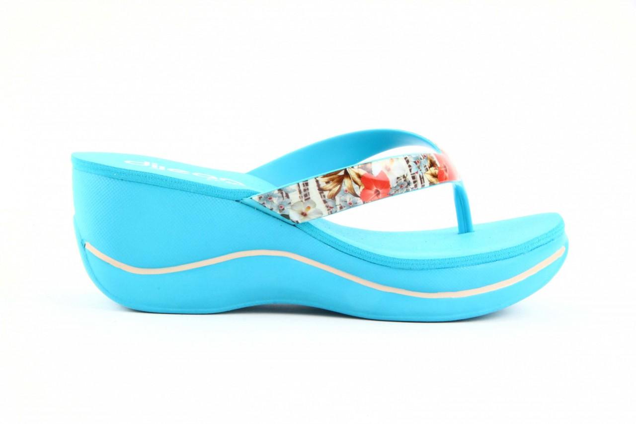 Klapki dijean 260 718 ocean, niebieski, guma - piankowe - klapki - buty damskie - kobieta 11