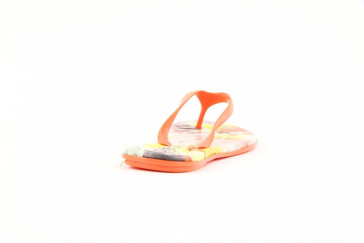 Klapki dijean 261 662 tangerine-flowr, pomarańczowy, guma 6