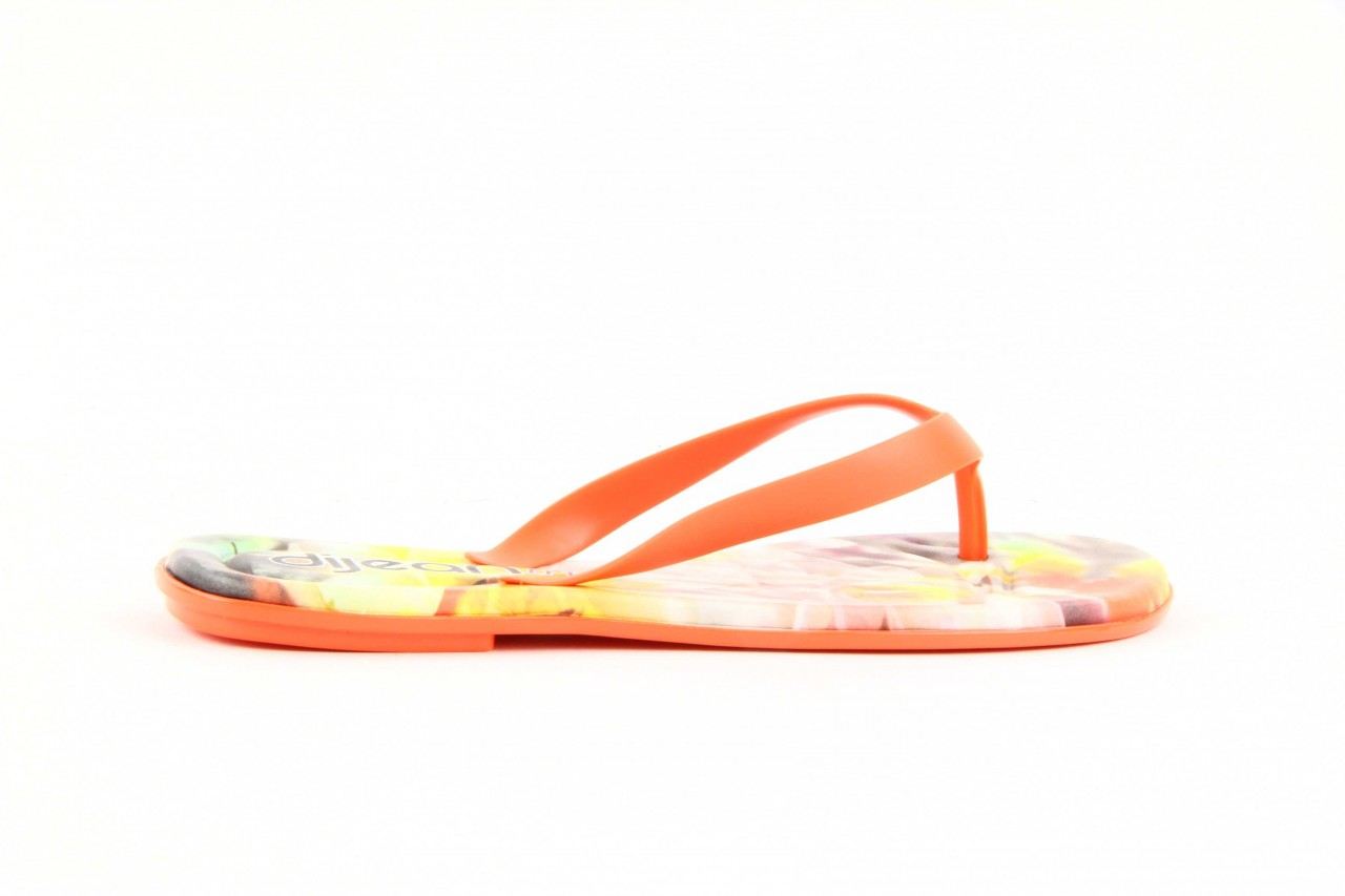 Klapki dijean 261 662 tangerine-flowr, pomarańczowy, guma 10