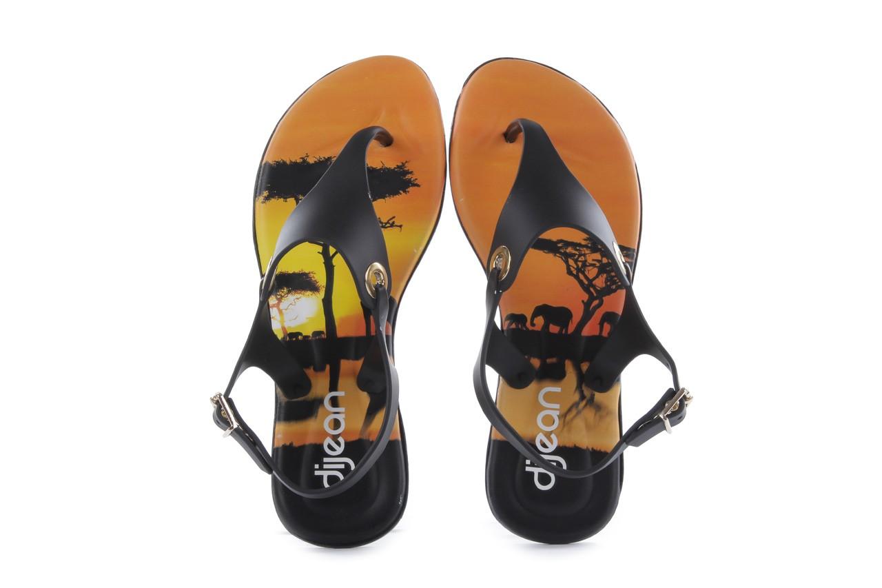 Sandały dijean 261 985 black safari, czarny, guma - dijean - nasze marki 10