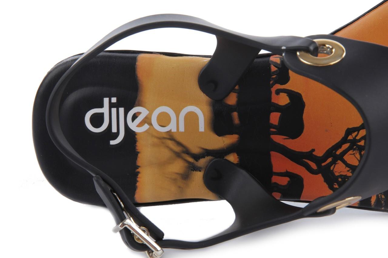 Sandały dijean 261 985 black safari, czarny, guma - dijean - nasze marki 11