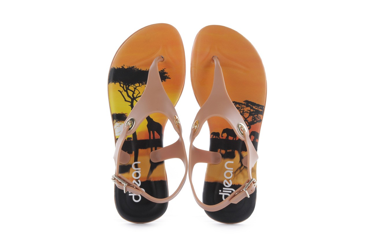 Sandały dijean 261 985 cocoa safari, beż, guma - dijean - nasze marki 10