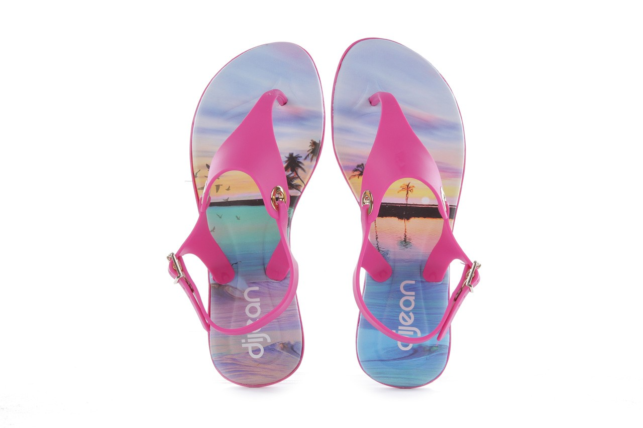 Sandały dijean 261 985 violet coast, róż, guma - dijean - nasze marki 10