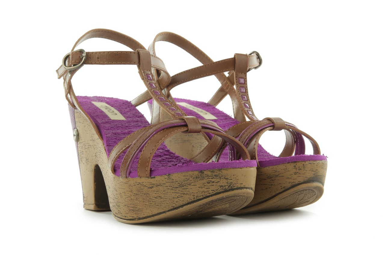 Sandały dijean 720 723 whisky/purple, brąz/fiolet, skóra ekologiczna - dijean - nasze marki 8
