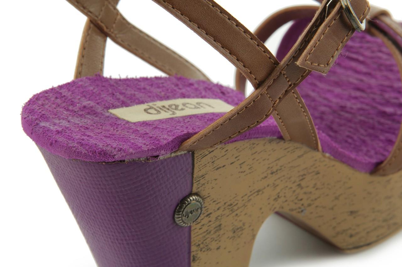 Sandały dijean 720 723 whisky/purple, brąz/fiolet, skóra ekologiczna - dijean - nasze marki 13