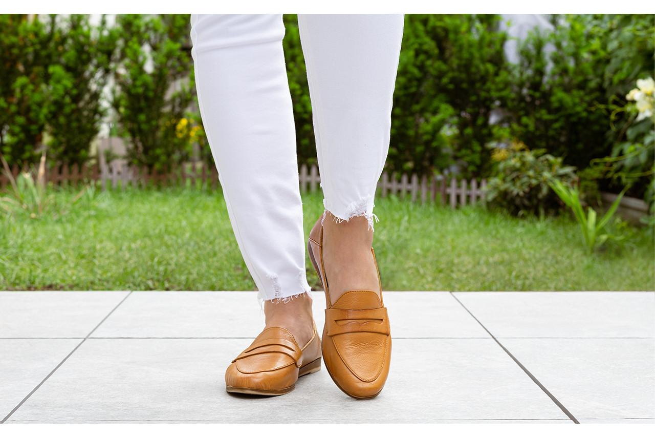 Półbuty bayla-161 138 434 coconut 161199, brąz, skóra naturalna  - skórzane - półbuty - buty damskie - kobieta 17