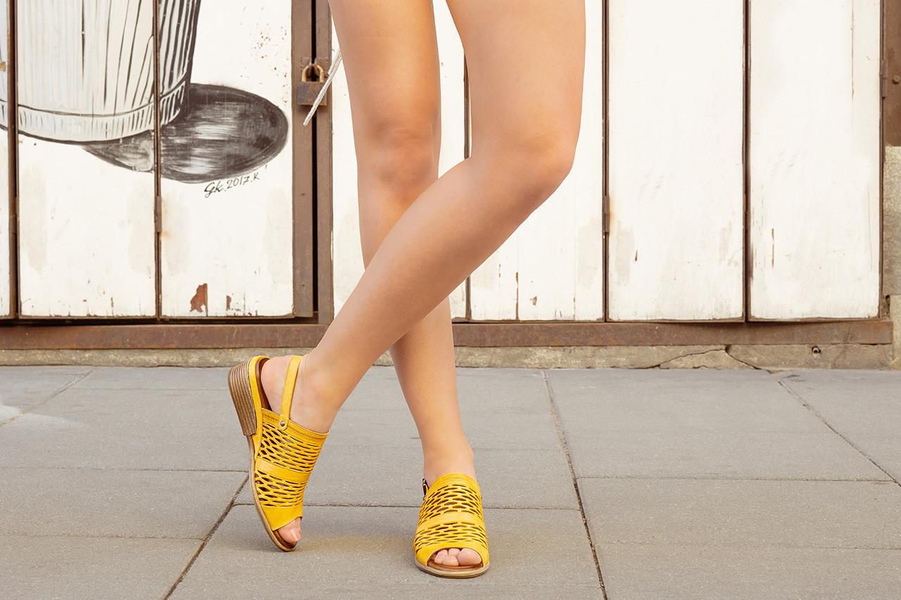 Sandały bayla-161 061 1600 noce 161200, żółty, skóra naturalna  - sandały - buty damskie - kobieta 17