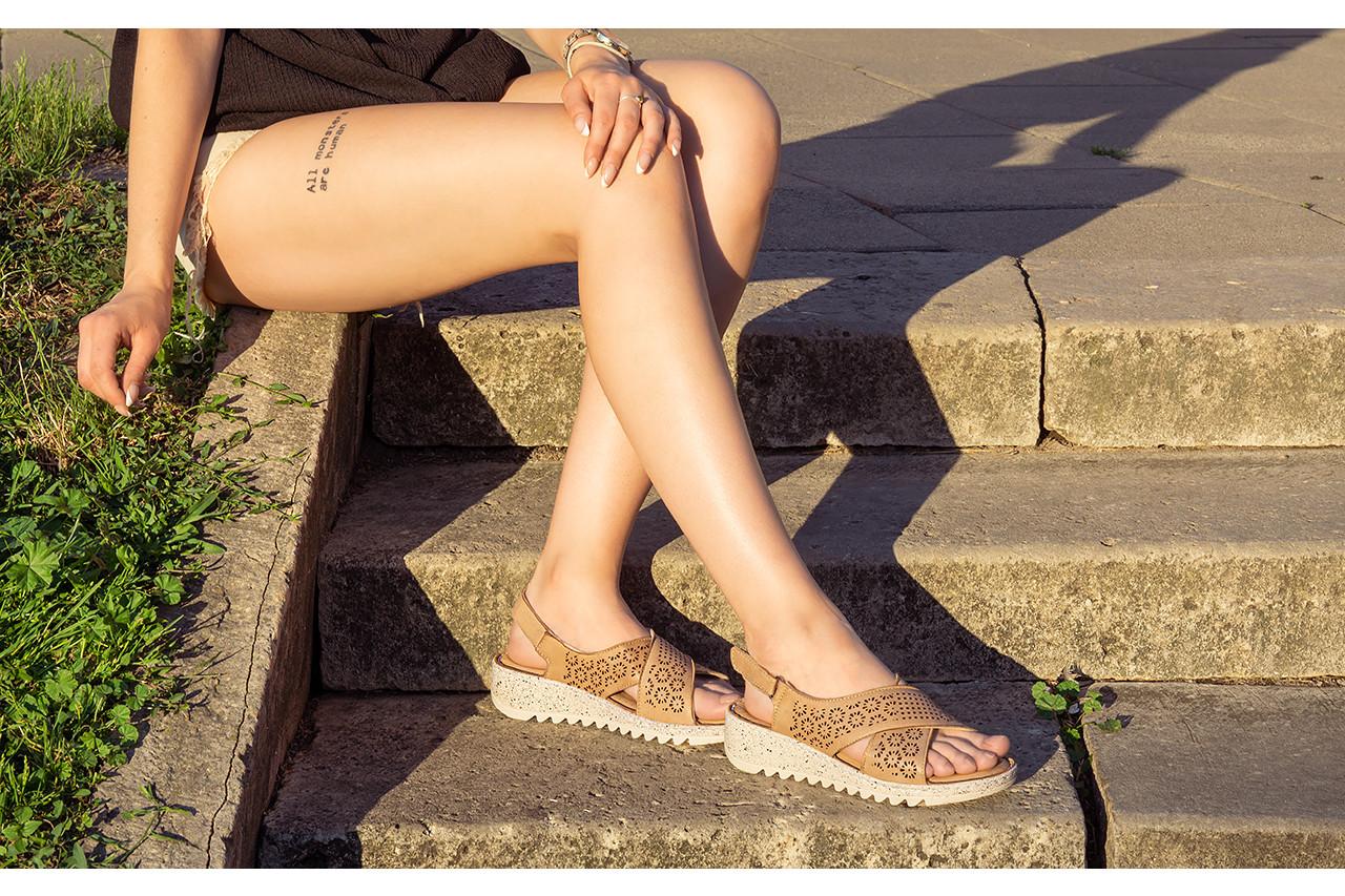 Sandały bayla-161 016 921 cappuccino 161192, brąz, skóra naturalna - sandały - buty damskie - kobieta 17