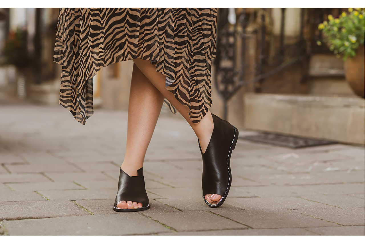 Sandały bayla-194 9768 08 czarny 194008, skóra naturalna  - nowości 19