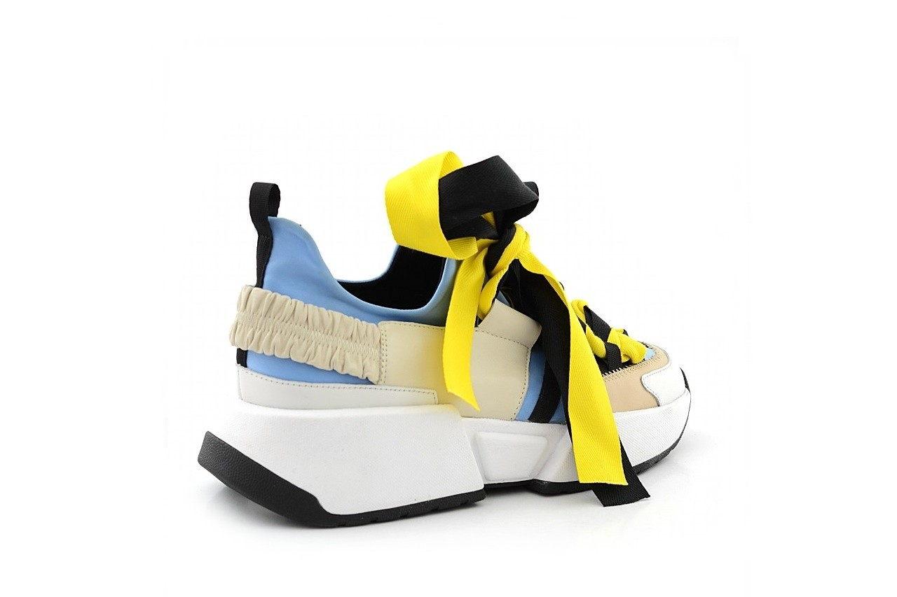 Sneakersy sca'viola e-17 l-blue, niebieski/ beż/ czarny, skóra naturalna  - sca`viola - nasze marki 3