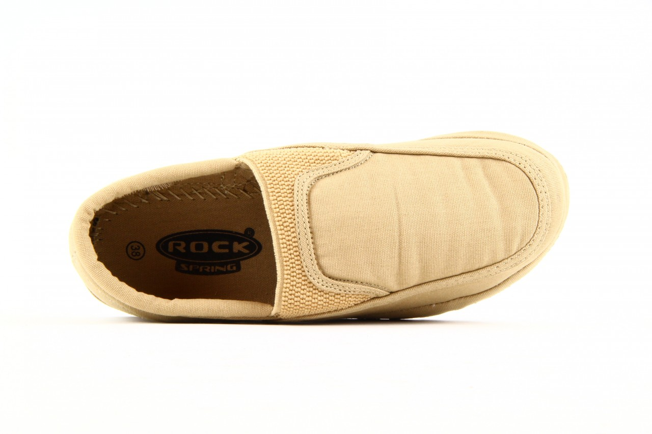 Półbuty fancy elastic beige, beż, materiał  - rock - nasze marki 7