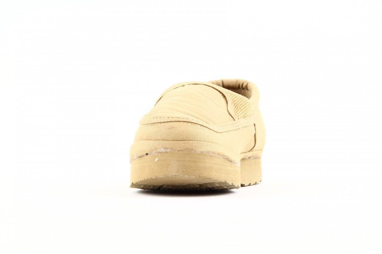 Półbuty fancy elastic beige, beż, materiał  - rock - nasze marki 10