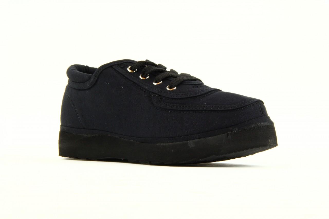 Półbuty fancy lace black, czarny, materiał 10