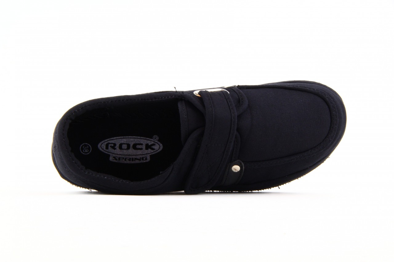Półbuty fancy velcro black, czarny, materiał  - rock - nasze marki 7
