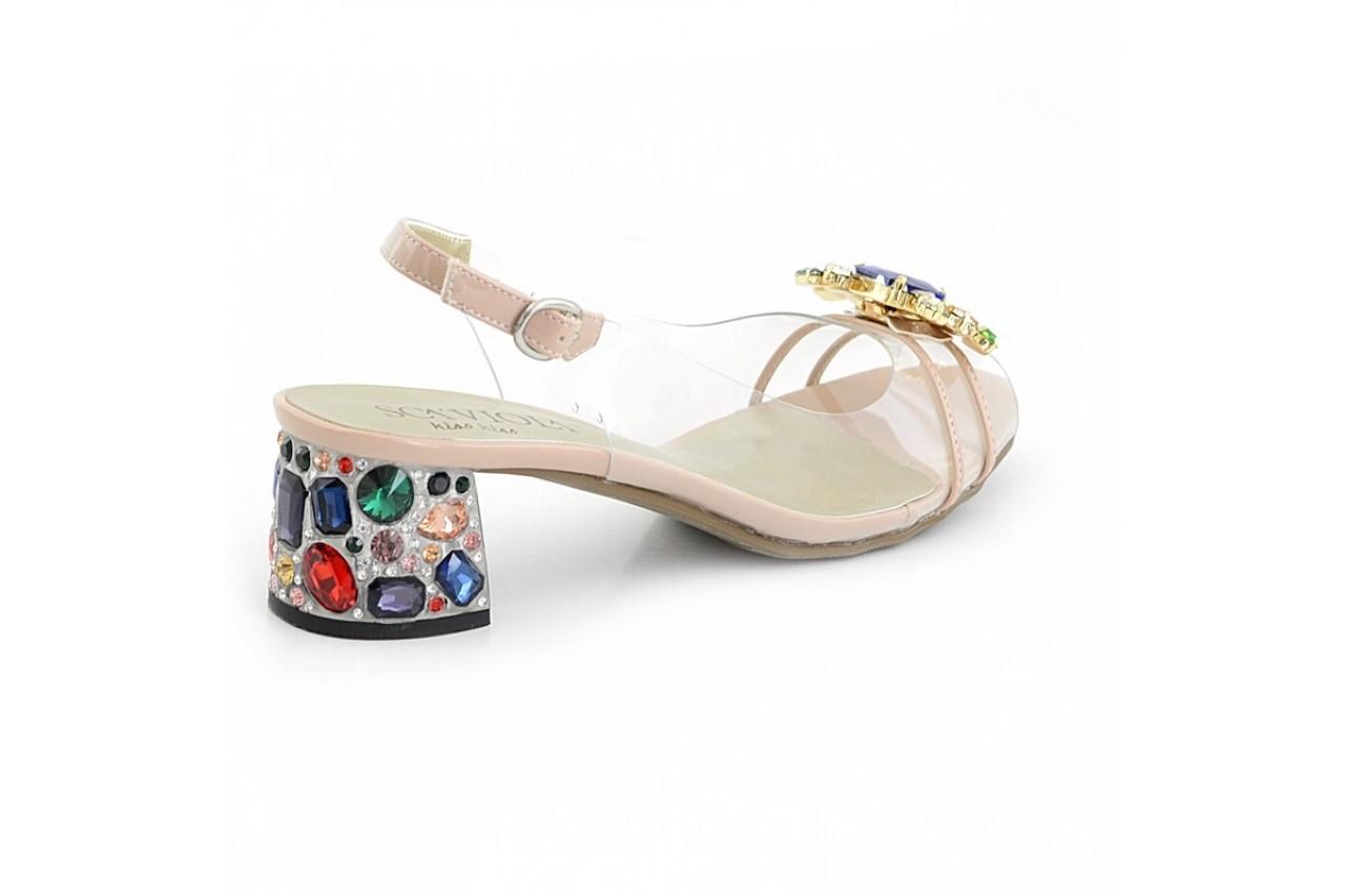 Sandały sca'viola g-25 nude, róż, silikon - na obcasie - sandały - buty damskie - kobieta 3