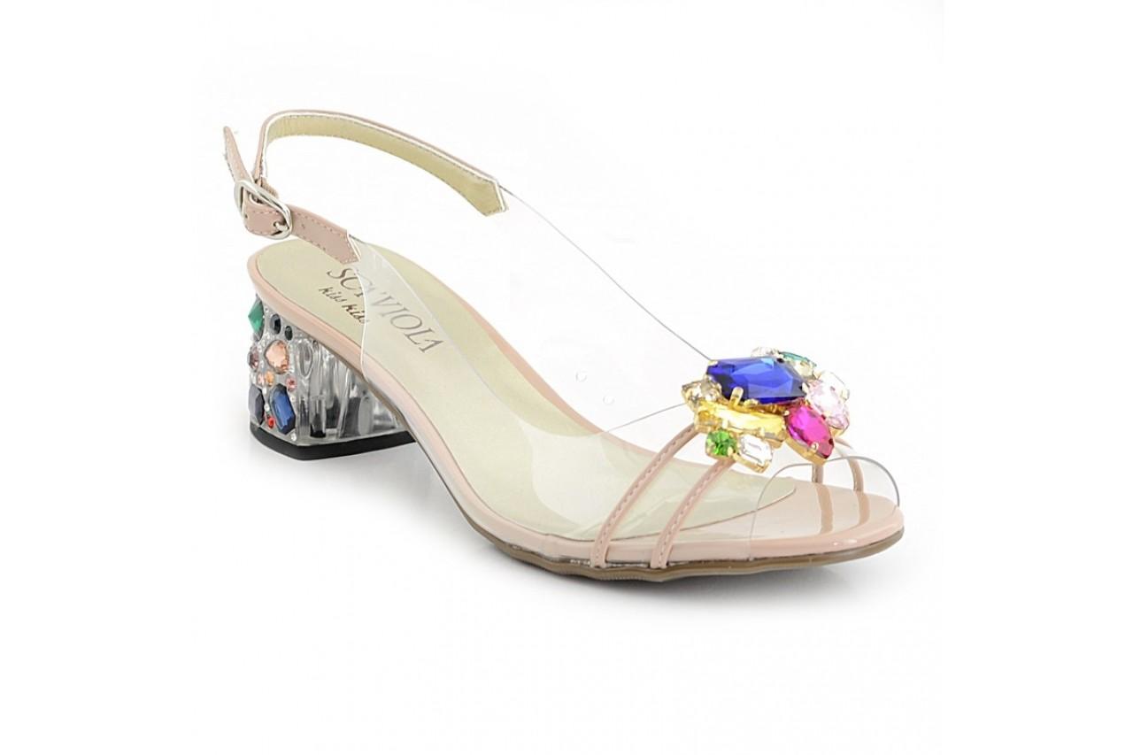 Sandały sca'viola g-25 nude, róż, silikon - na obcasie - sandały - buty damskie - kobieta 2