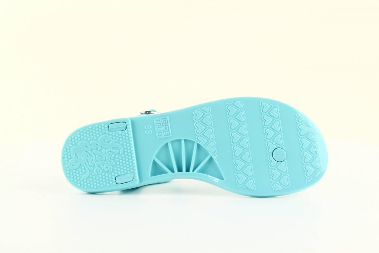 Sandały gioseppo bauhaus turquise, niebieskie, guma - gioseppo - nasze marki 13