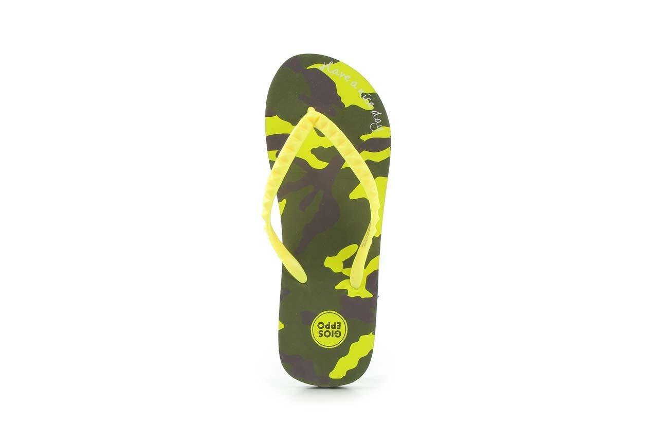 Klapki gioseppo frappe 1 yellow, żółty, guma - piankowe - klapki - buty damskie - kobieta 7