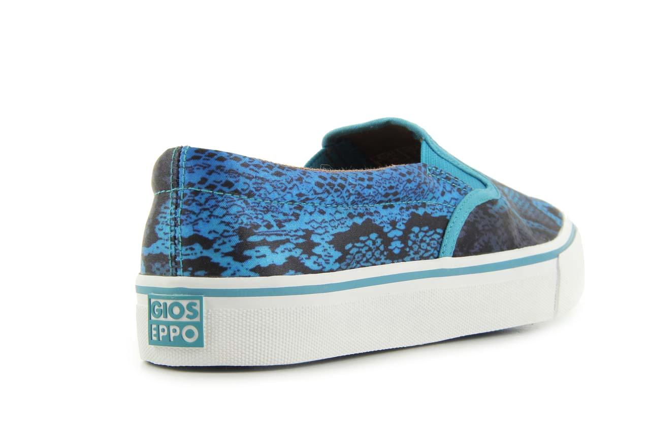 Półbuty gioseppo hapenning snake-blue, niebieski, materiał - gioseppo - nasze marki 8