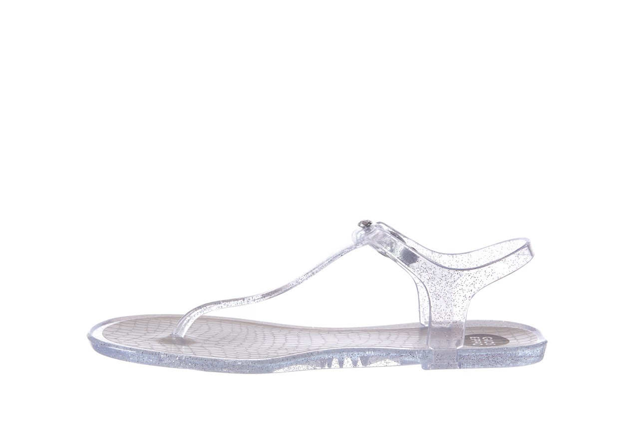 Sandały gioseppo lecce transparent silver, srebro, guma - gioseppo - nasze marki 8