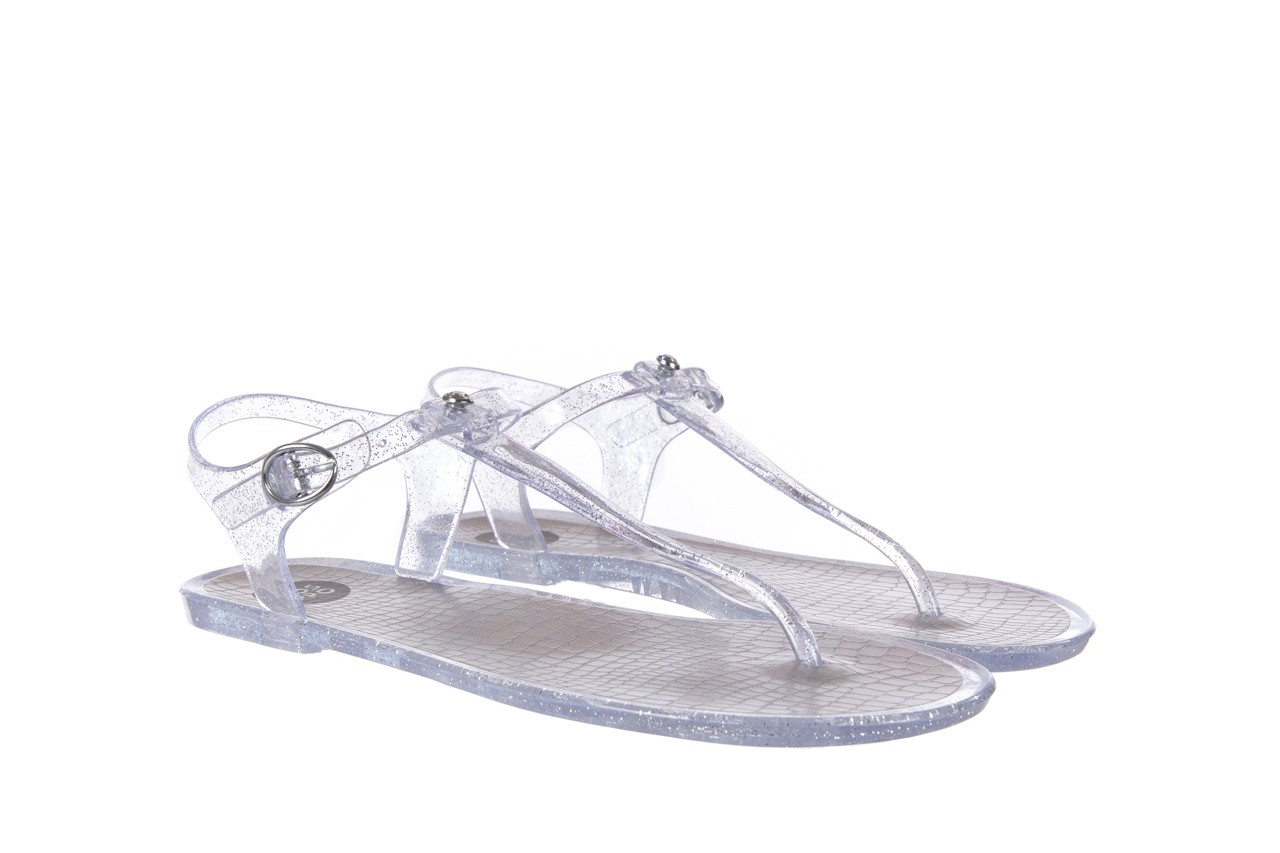 Sandały gioseppo lecce transparent silver, srebro, guma - gioseppo - nasze marki 7