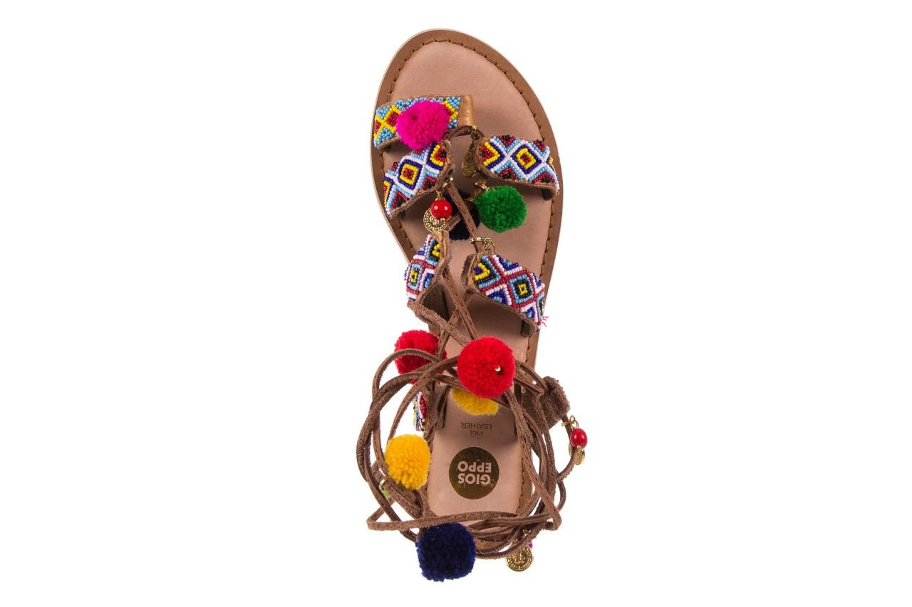 Sandały gioseppo omahas tan, wielokolorowy, skóra naturalna  - gioseppo - nasze marki 12