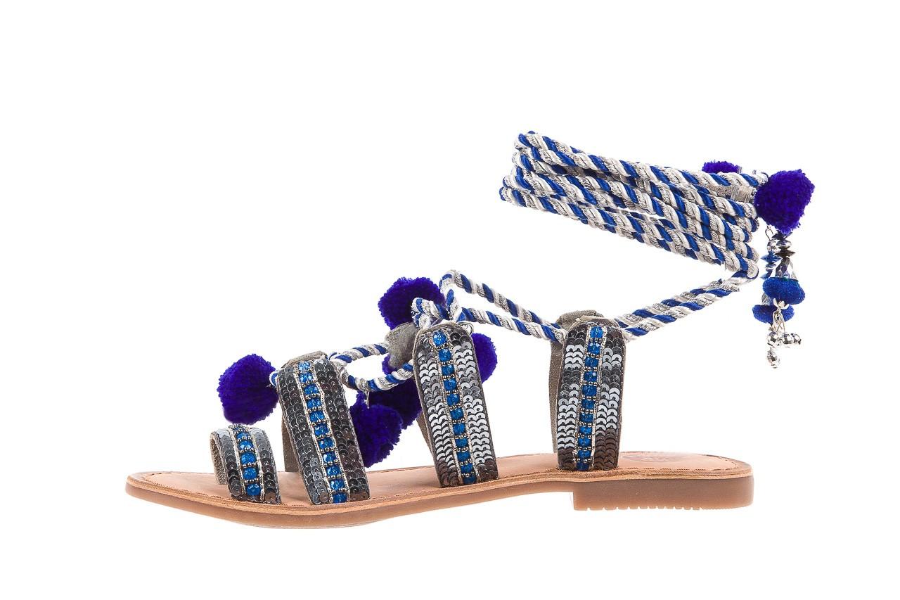 Sandały gioseppo yurak blue, granat, skóra naturalna  - sandały - dla niej - dodatkowe -10% 9