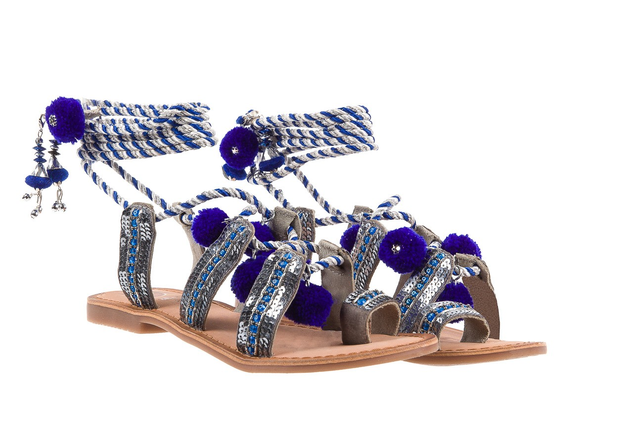 Sandały gioseppo yurak blue, granat, skóra naturalna  - sandały - dla niej - dodatkowe -10% 8
