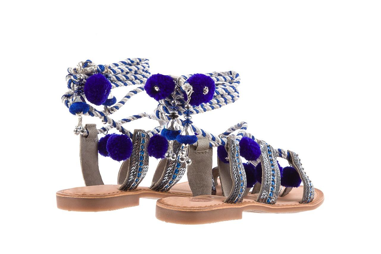 Sandały gioseppo yurak blue, granat, skóra naturalna  - sandały - dla niej - dodatkowe -10% 10