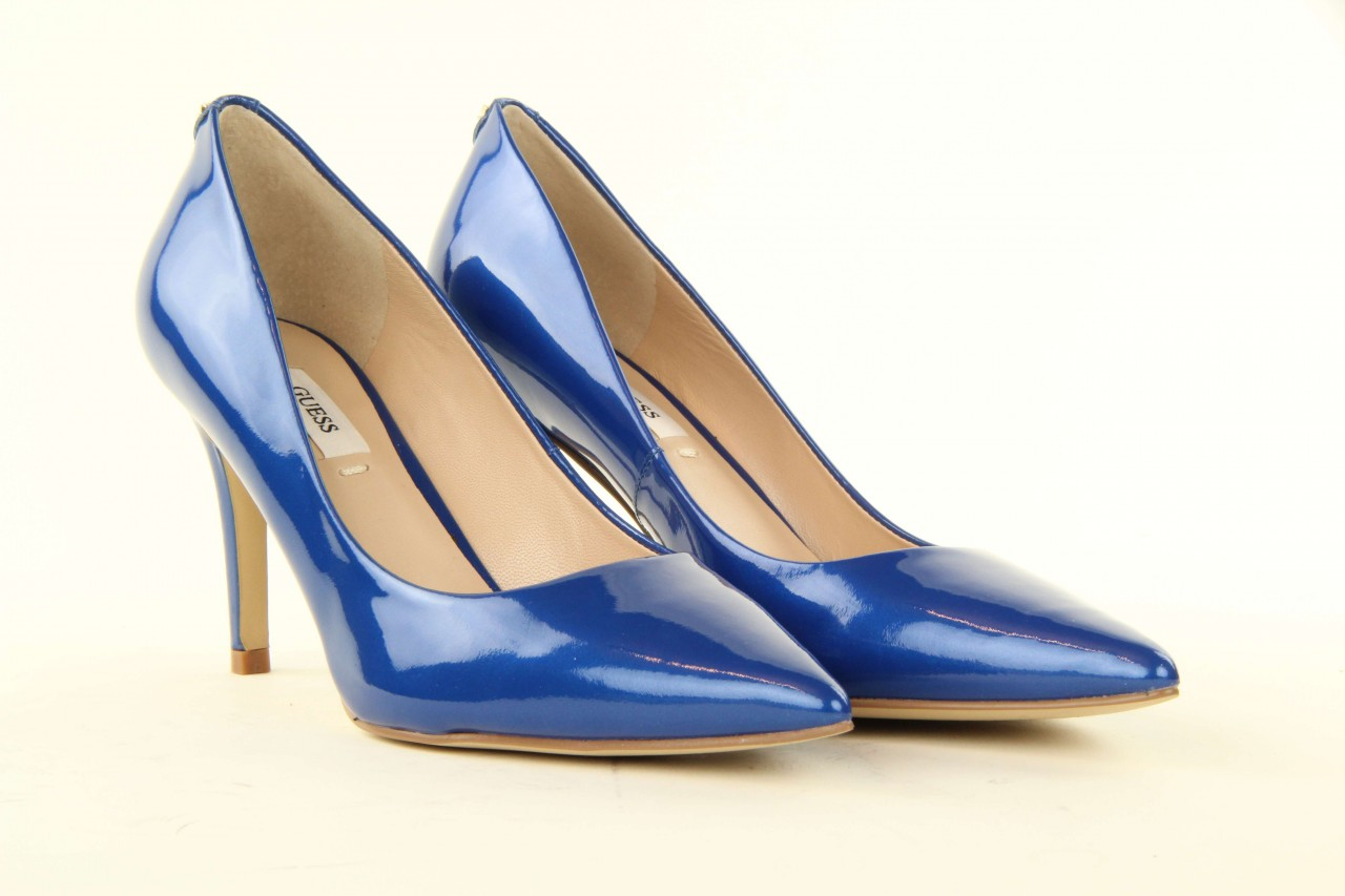 Szpilki guess fl2mmapal08 blue, niebieskie, skóra naturalna lakierowana - guess - nasze marki 7