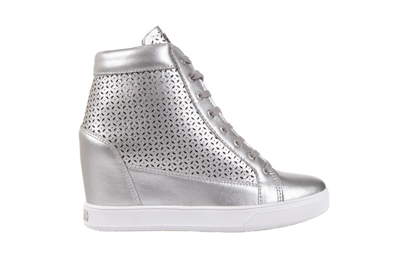 Sneakersy guess flfur2 lea12 silve, srebro, skóra naturalna  - sneakersy - buty damskie - kobieta 6