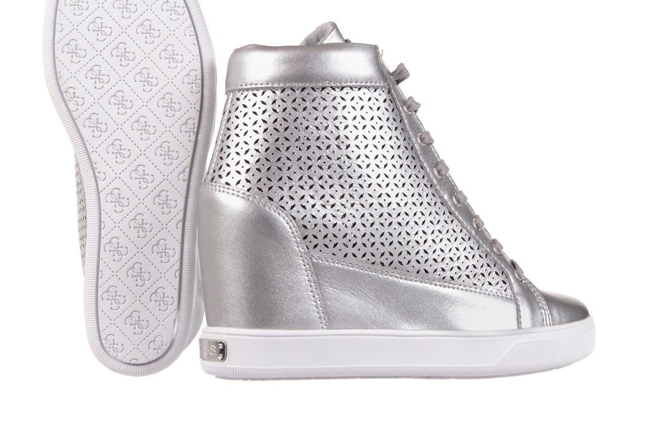 Sneakersy guess flfur2 lea12 silve, srebro, skóra naturalna  - sneakersy - buty damskie - kobieta 11