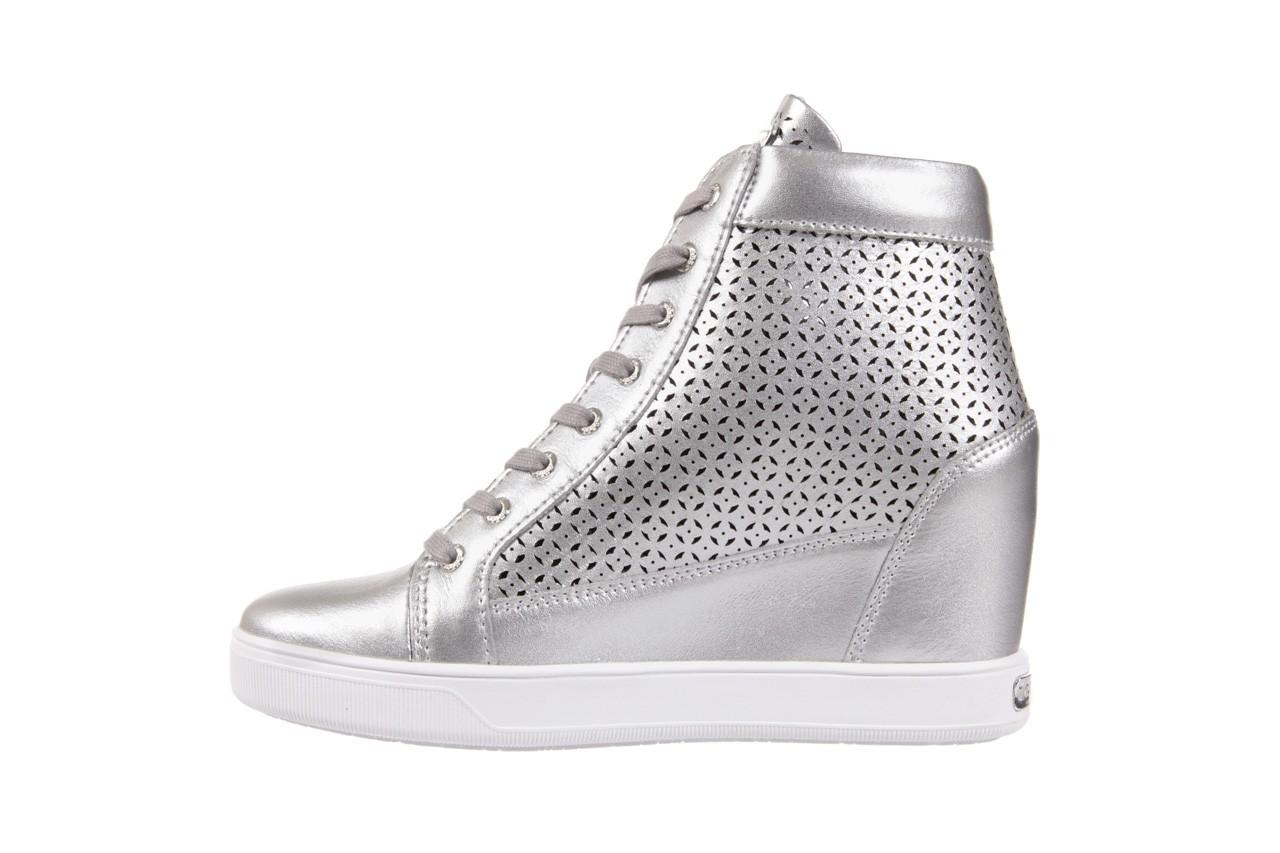 Sneakersy guess flfur2 lea12 silve, srebro, skóra naturalna  - sneakersy - buty damskie - kobieta 8