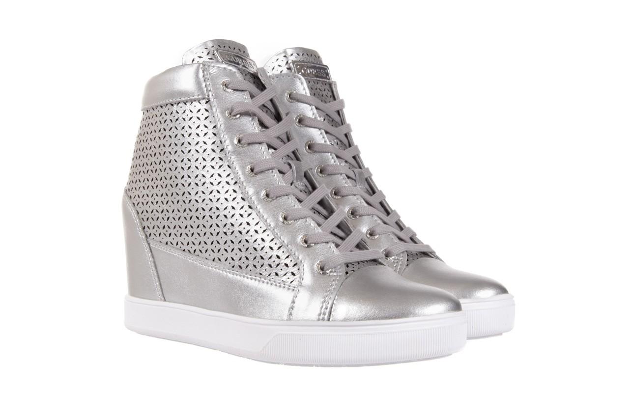 Sneakersy guess flfur2 lea12 silve, srebro, skóra naturalna  - sneakersy - buty damskie - kobieta 7