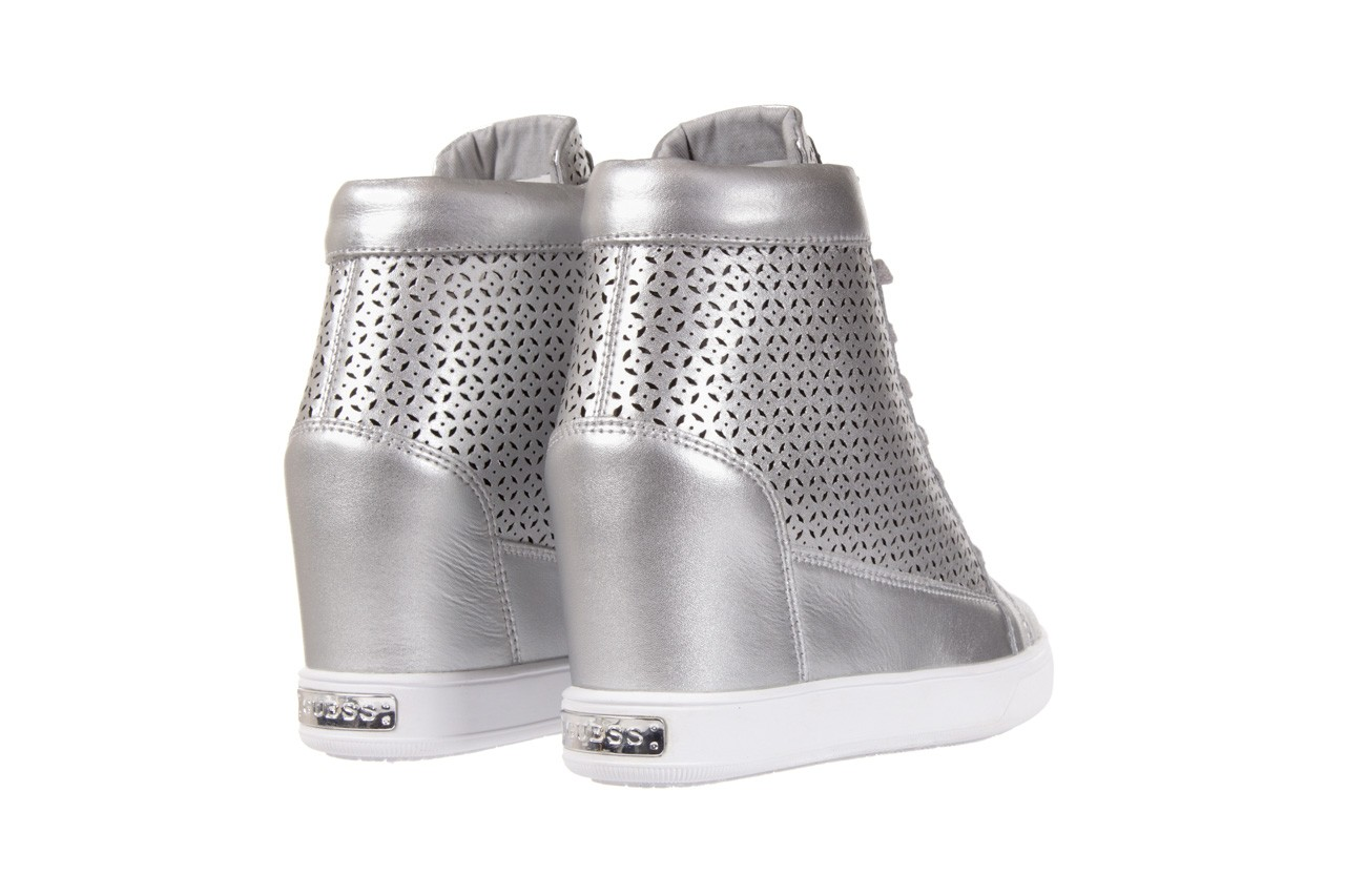 Sneakersy guess flfur2 lea12 silve, srebro, skóra naturalna  - sneakersy - buty damskie - kobieta 9