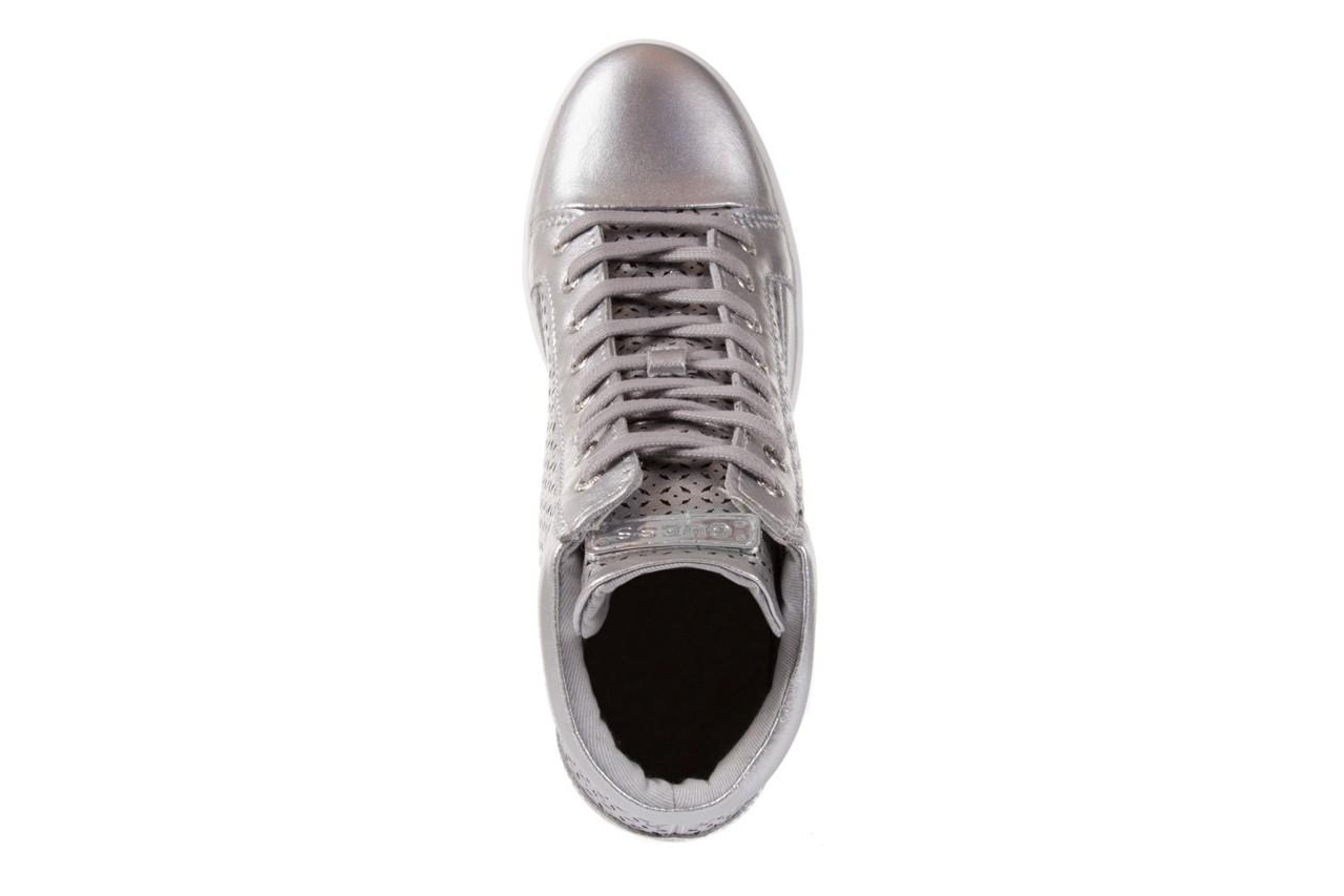 Sneakersy guess flfur2 lea12 silve, srebro, skóra naturalna  - sneakersy - buty damskie - kobieta 10