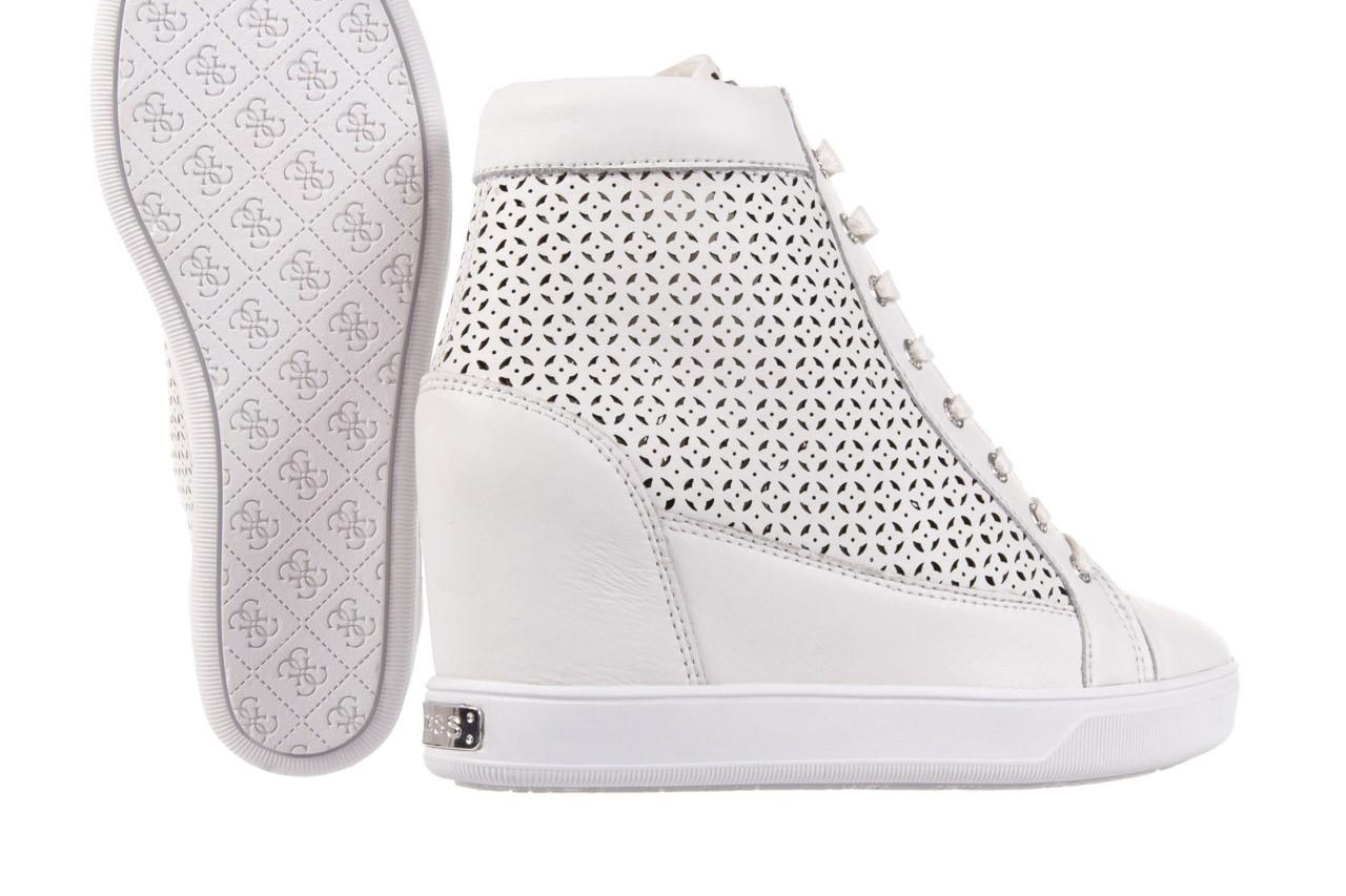 Sneakersy guess flfur2 lea12 white, biały, skóra naturalna  - guess - nasze marki 11