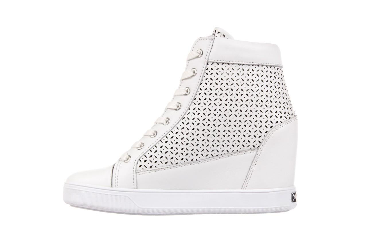 Sneakersy guess flfur2 lea12 white, biały, skóra naturalna  - guess - nasze marki 8