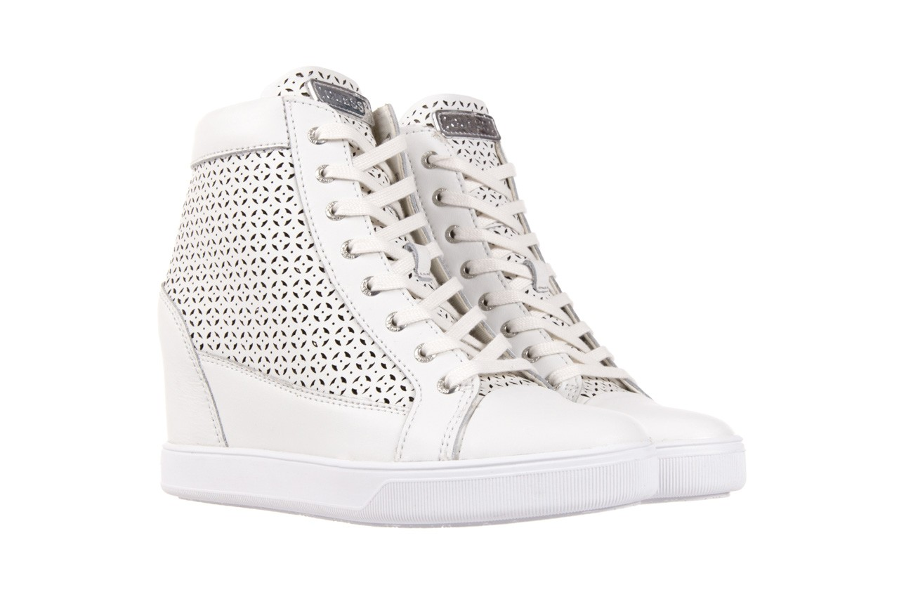 Sneakersy guess flfur2 lea12 white, biały, skóra naturalna  - guess - nasze marki 7