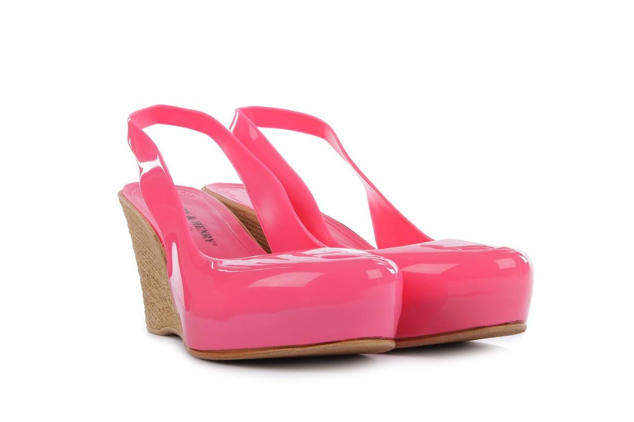 Sandały henry&henry coco pink 14 15, róż, guma 8