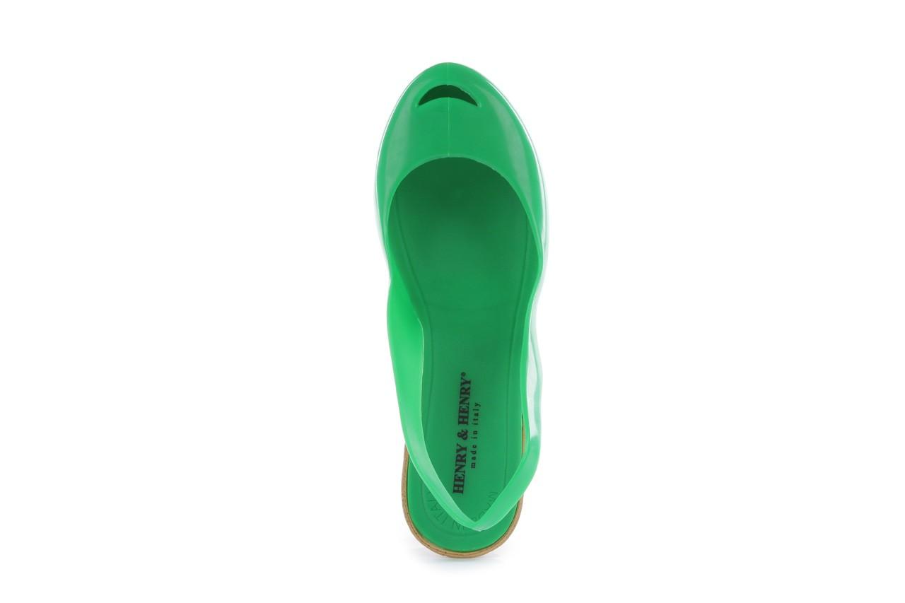 Sandały henry&henry coco verde, zielone, guma - henry&henry - nasze marki 11